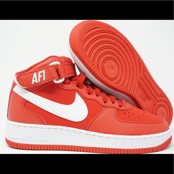 e53fb7e505bb Nike Air Force 1 Mid GS Big Kid Red White